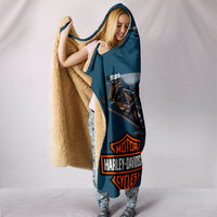 Harley Davidson Custom Design Hooded Blanket