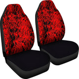 Digital Camouflage Red Car Seat Covers