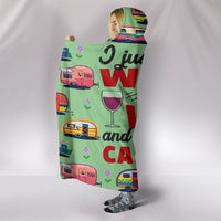 Wine & Caravan Hooded Blanket - Mint Green