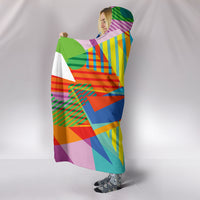 Retro Vintage 80's & 90's Fashion 2 Hooded Blanket
