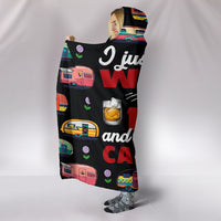 Hers Rum And Caravan Hooded Blanket - Black