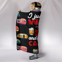 Scotch & Caravan Hooded Blanket - Black
