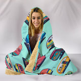 Caravan Hooded Blanket - Green