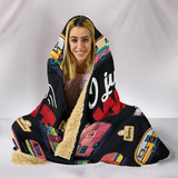 His Rum & Caravan Hooded Blanket - Black