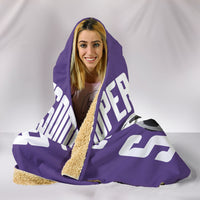 Soccer Mum Hooded Blanket - Purple