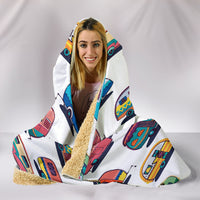 Caravan Hooded Blanket - White