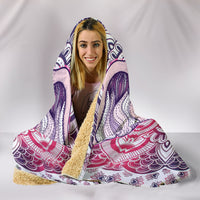 Lucky Elephant Purple Mandala Hooded Blanket