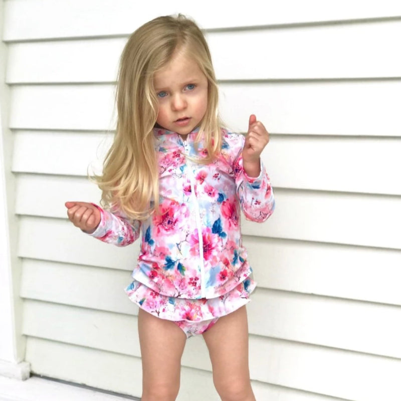 Kids, swimwear, swimsuit, bathers, sunsafe, kids, bikini, long sleeve, one piece, rashie, onepiece, Australian made