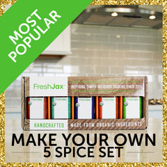 The FreshJax Organic Spice Make Your Own Gift Set