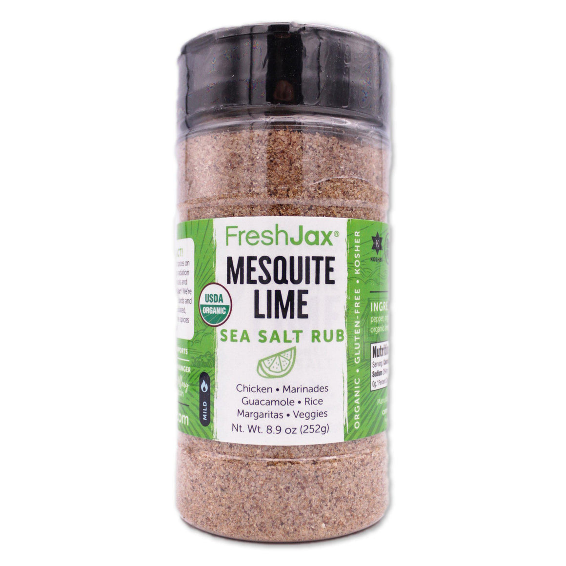 FreshJax Organic Spices Mesquite Lime: Organic Seasoned Sea Salt