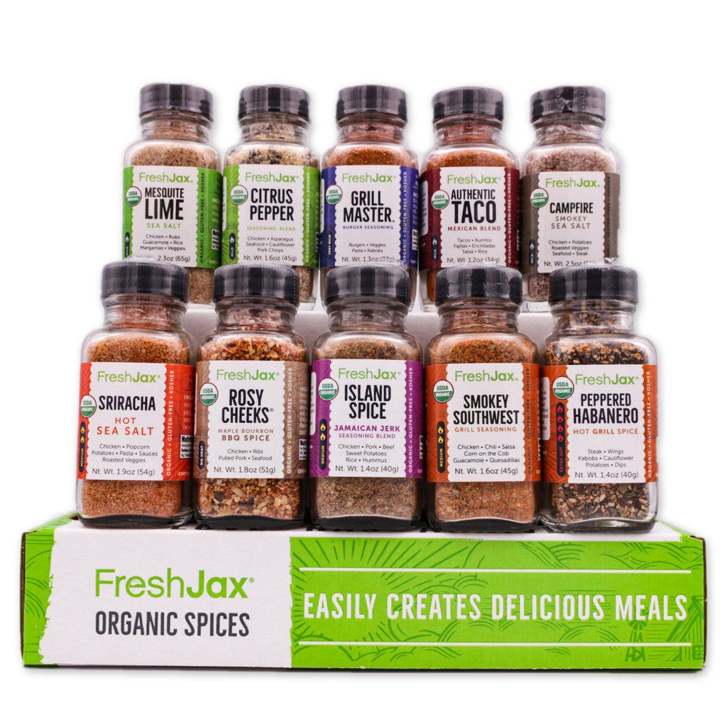 FreshJax Organic Spices Organic 10 Spice Gift Set: Meat Lovers