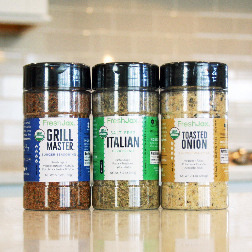 FreshJax Organic Spices Organic Grilling Spices 3 Pack Gift Set: Vegetable Spices