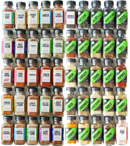 Organic Spice Blends + Essentials - 50 Spice Set