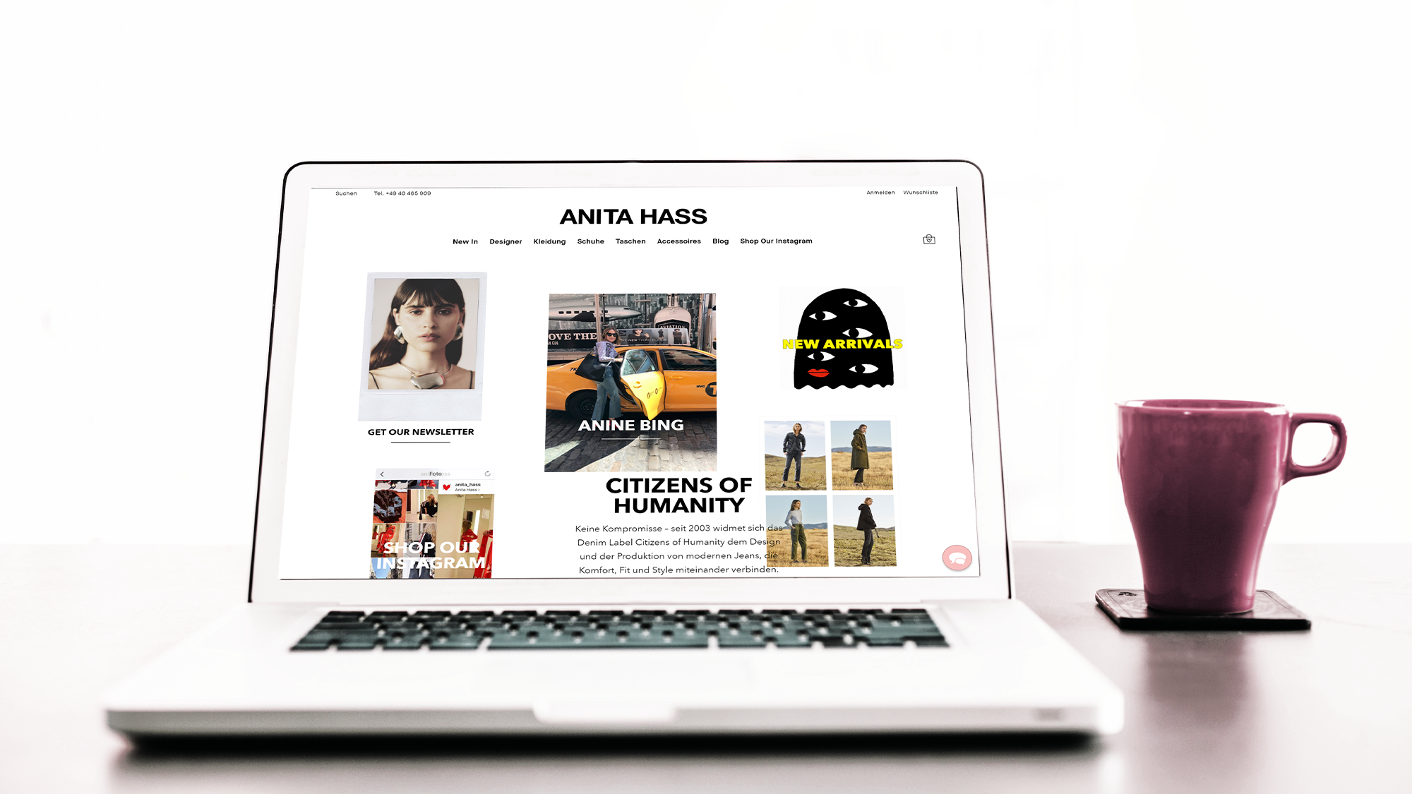 onlyanita.com: ultimativ flexible Startseite mit Shopify