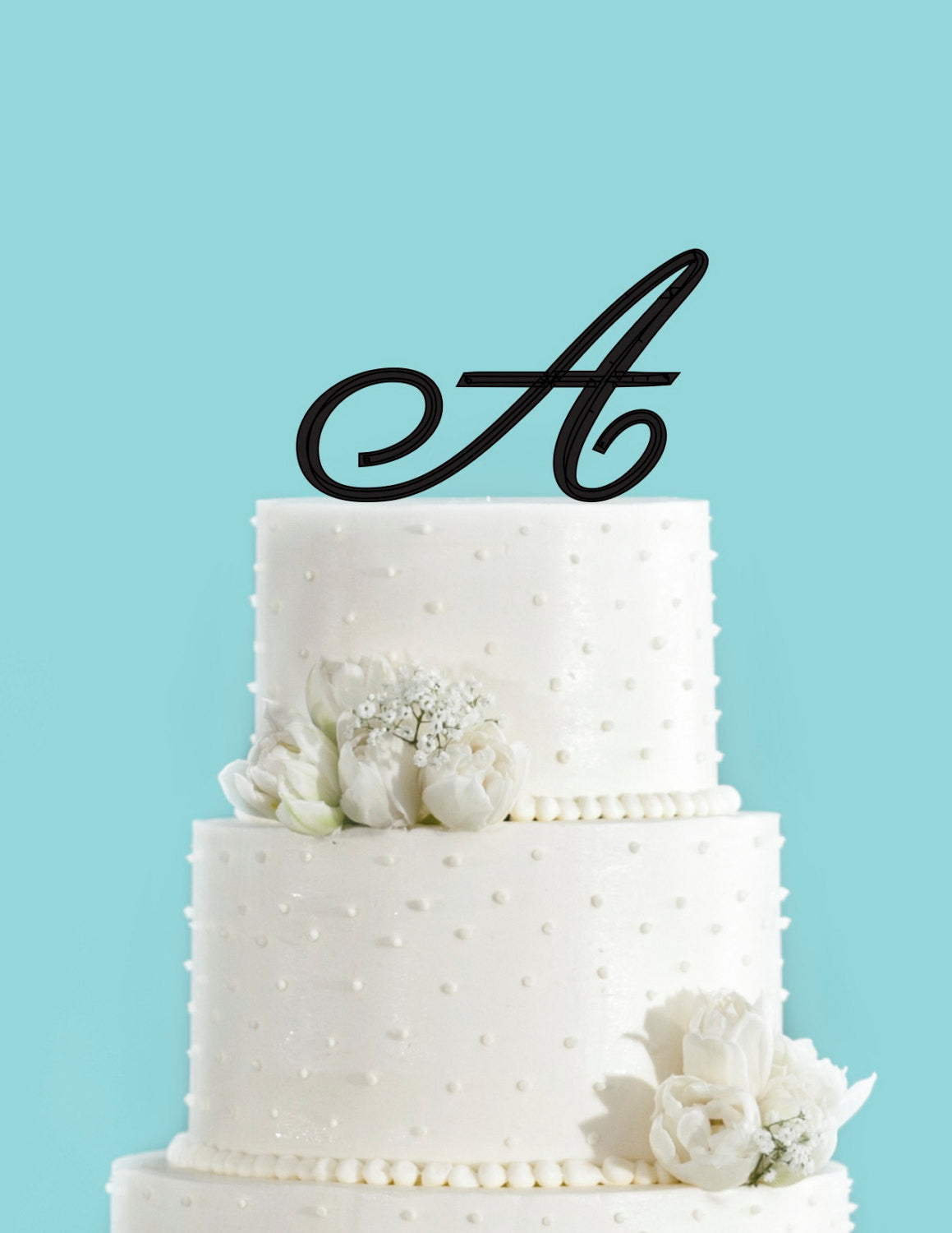 Monogram Personalized Letter A Custom Cake Topper Unique