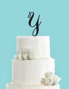 monogram personalized letter y custom cake topper unique traditional fonts wedding cake