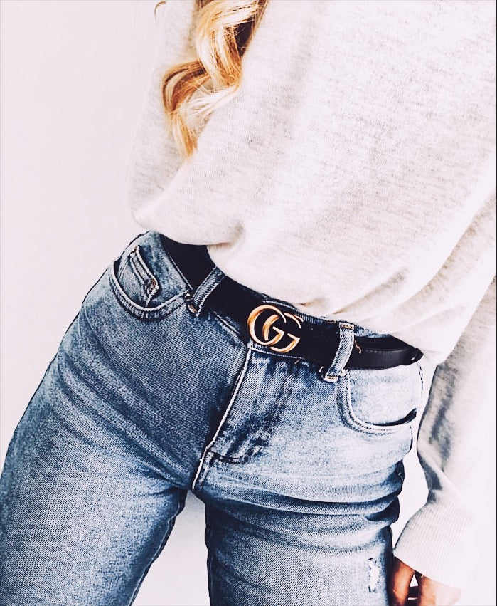 1b5a64d81a7 GG leather belt with Double G buckle 2cm – FinchGallery