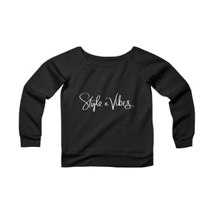 Style & Vibes off the shoulder sweatshirt