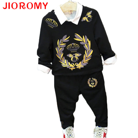 Boys Clothing Set Tops + Pants 2pcs Letters Printed Long Sleeve