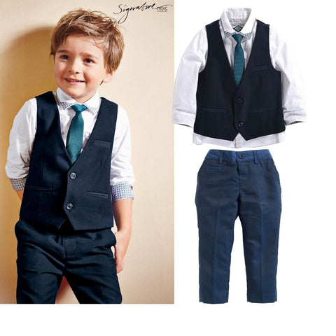 Summer formal Children's clothing sets Boy's suit set party wedding