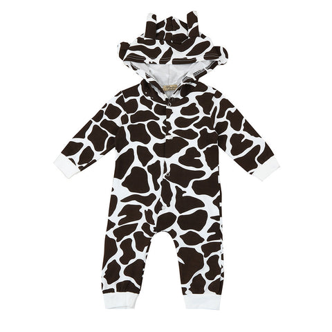 Baby boys romper Toddler Newborn Baby Boys Cow Cartoon Hooded
