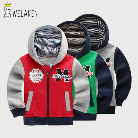 Boys Hoodies M Letters Pattern Girls Kids Hooded Coat