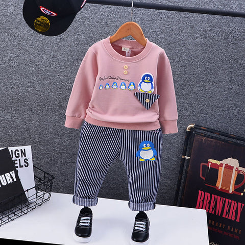 DIIMUU Toddler Baby Boys Clothing Autumn Outfits Kids Infant Child Children Boy Apparel Print Coat