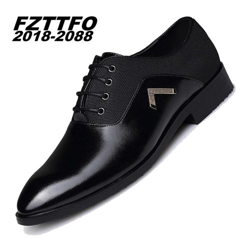 Fashion Genuine Leather Men Oxford Shoes, Lace Up Casual Business Men Shoes.