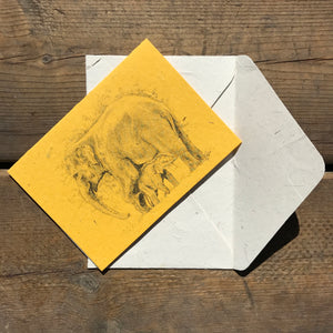Yellow Sketch Card