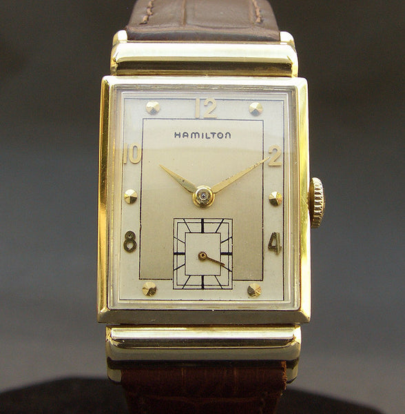 1948 HAMILTON USA 'Barton-B' 14K Gold Gents Dress Watch