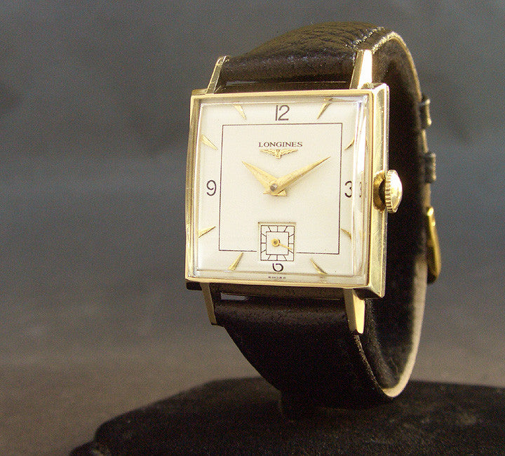 1951 LONGINES Gents 14K Solid Yellow Gold Dress Watch