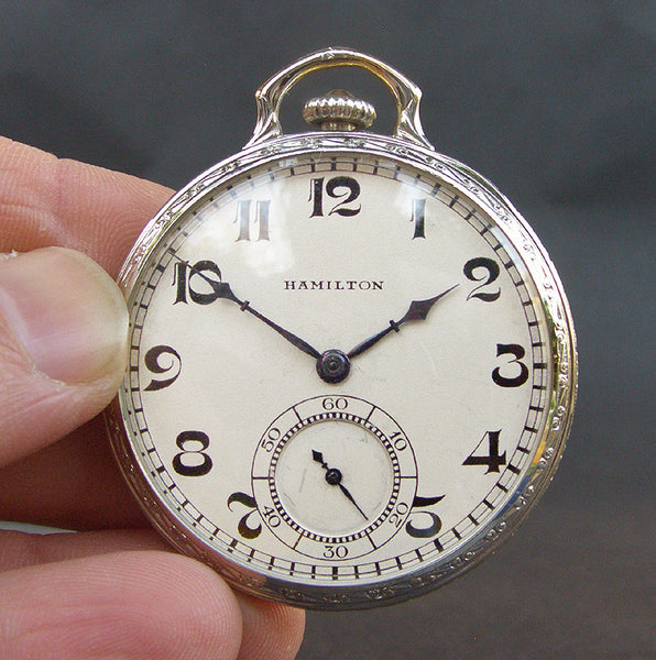 1939 HAMILTON USA 'Cleveland' Art Deco Pocket Watch