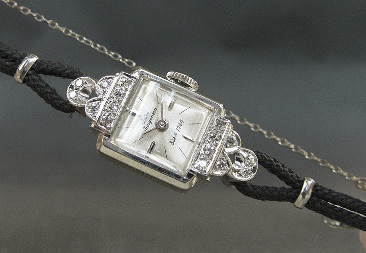 60s JULES JURGENSEN 14K Ladies Vintage Cocktail Watch