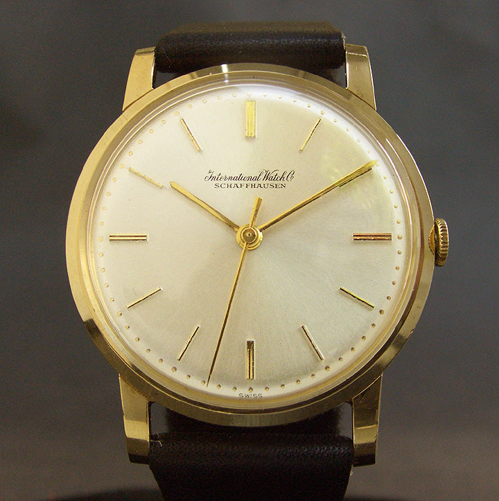 1963 IWC Schaffhausen 18K Gold Vintage Gents Swiss Watch Ref. 1205R