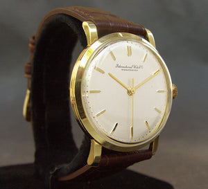 1967 IWC Schaffhausen 18K Gold Vintage Gents Watch Ref. 1405R
