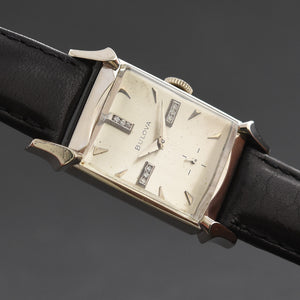 1954 BULOVA USA Vintage Gents Diamonds Dress Watch