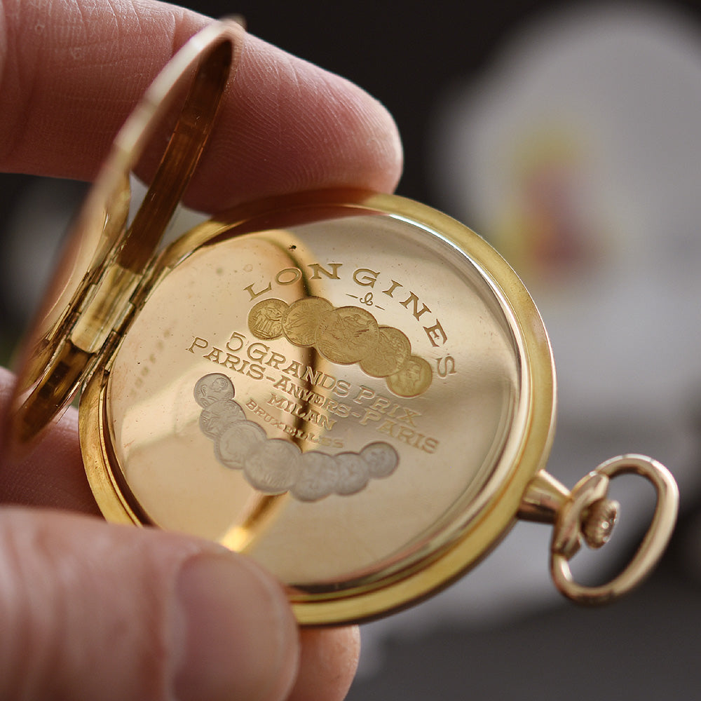 1914 LONGINES 14K Gold Slim Swiss Pocket Watch