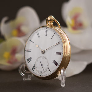 1839 RY 18K English Fusee Pocket Watch