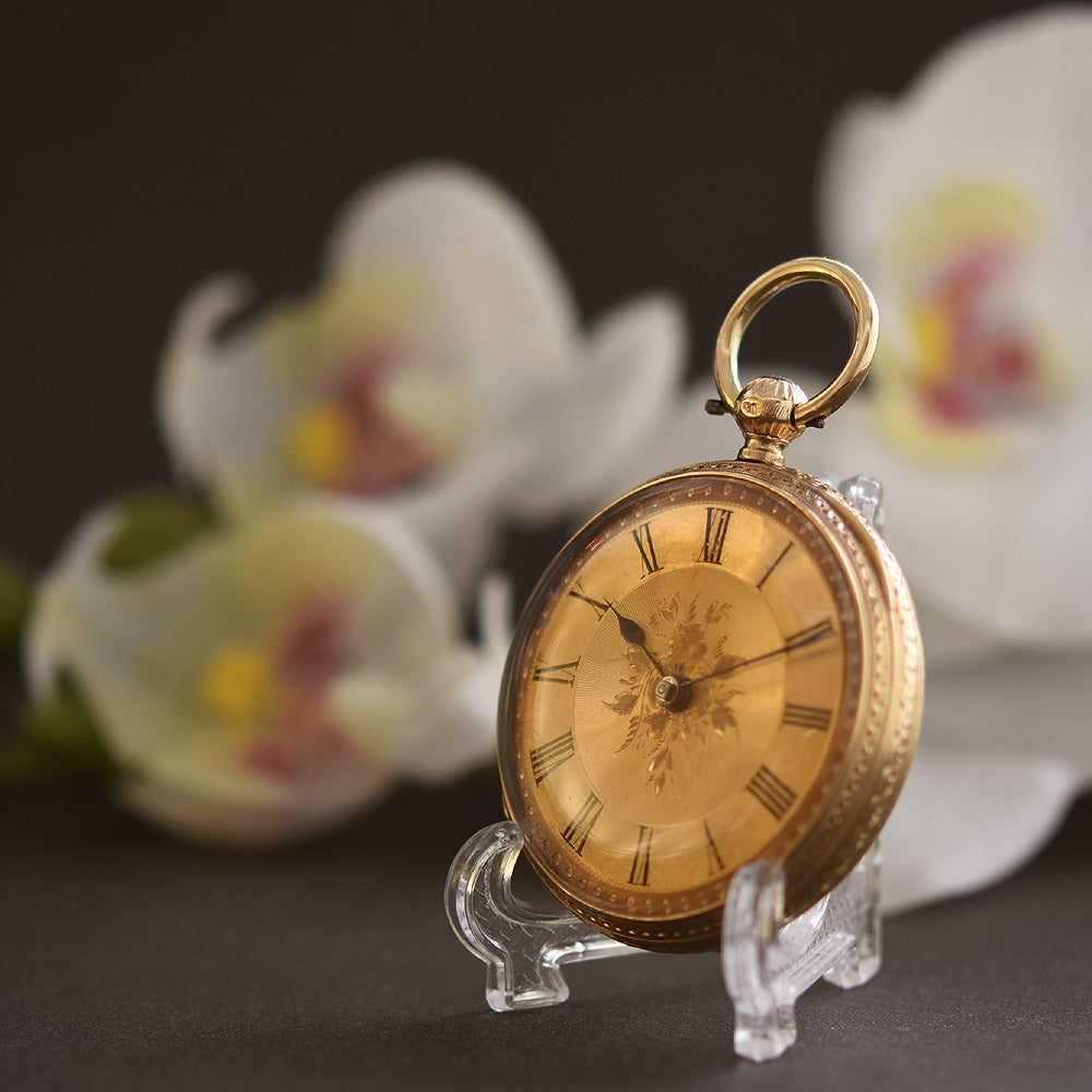 1850 C.F. MAGRATH 18K English Fusee Pocket Watch