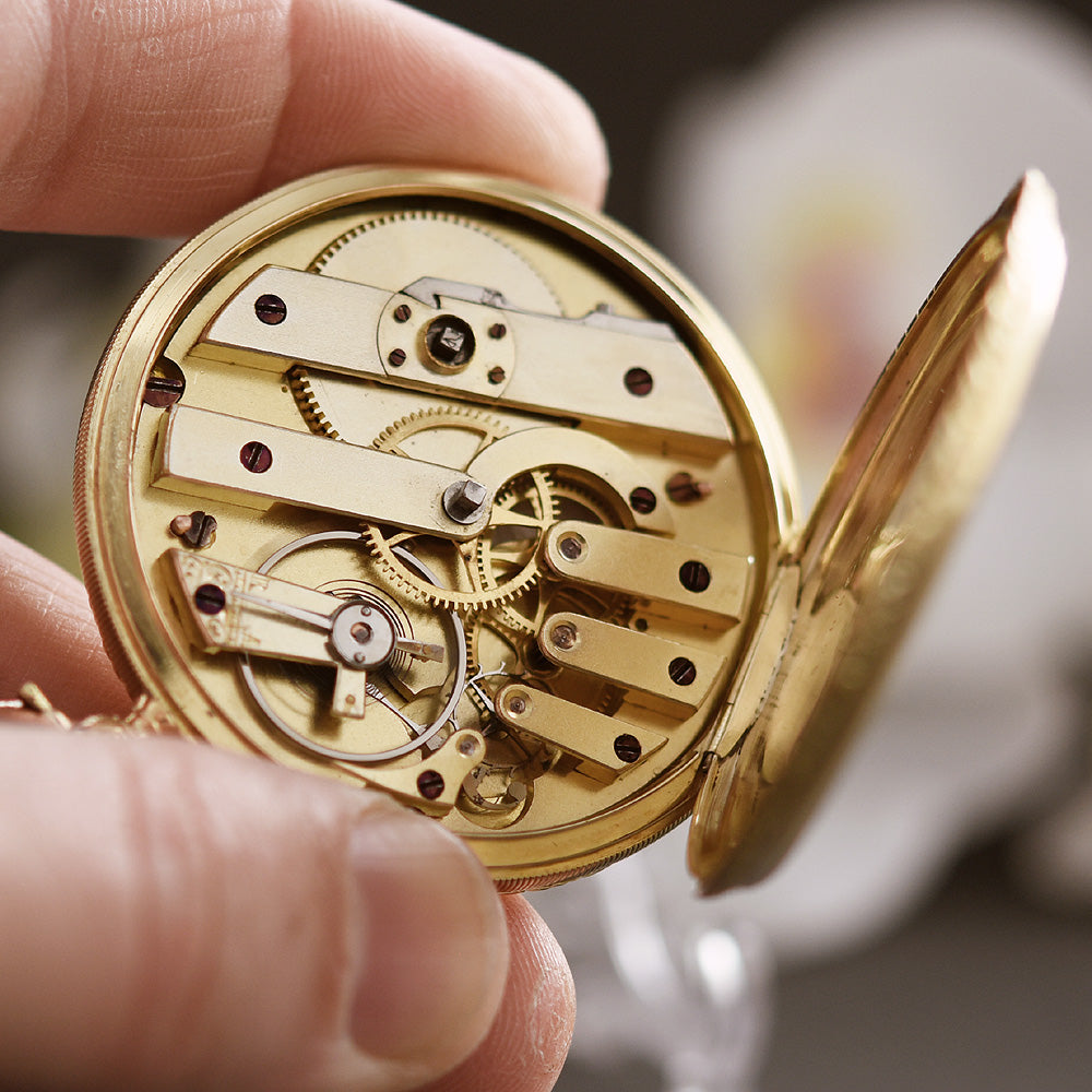 1870s VACHERON 18K Gold Slim Savonette Pocket Watch