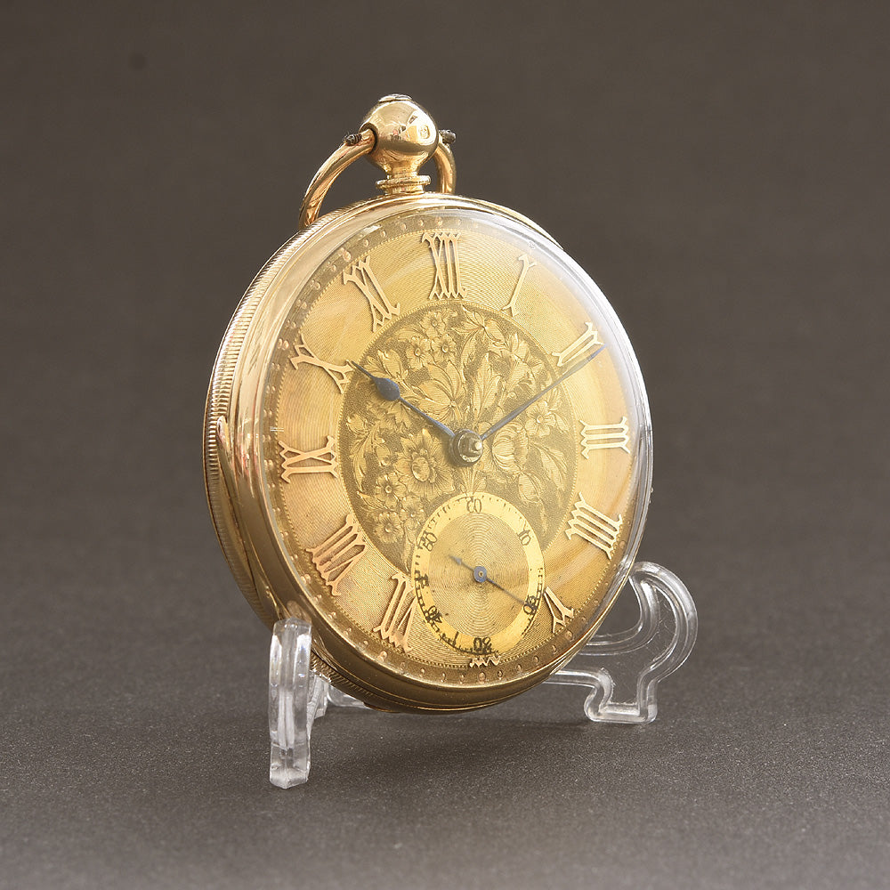 1865 C.B. Holliday CBH 18K English Fusee Pocket Watch