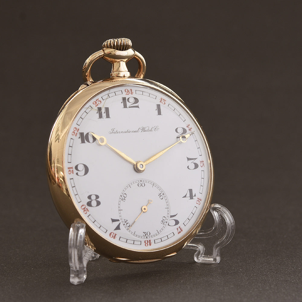 1911 IWC Schaffhausen 14K Gold Large Pocket Watch