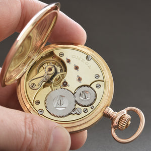 1904 OMEGA 14K Gold Large Hunter/Savonette Pocket Watch