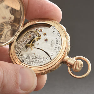 1898 American WALTHAM Seaside 1890 6s Hunter Pocket Watch