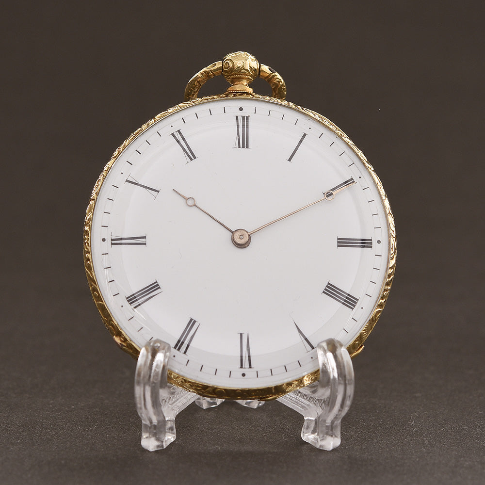 1870s FRANCO OLIVÉ Swiss Slim Cylinder Pocket Watch