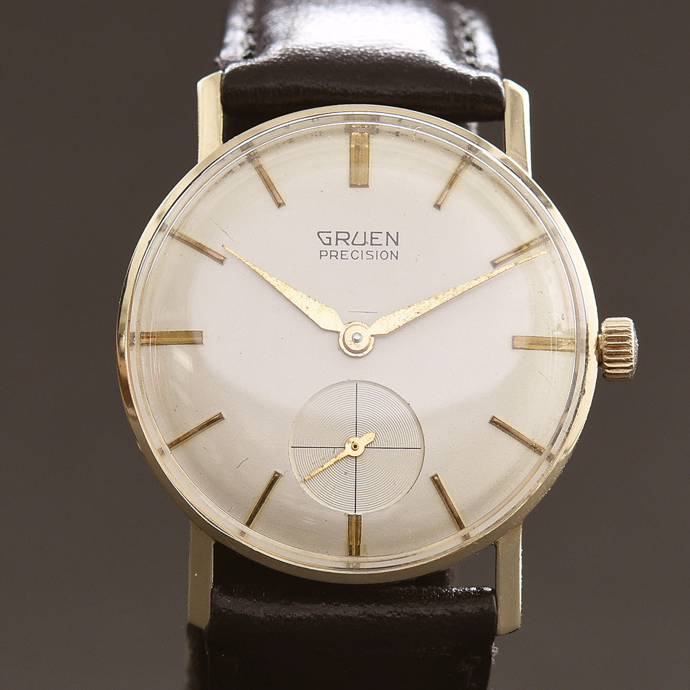 50s GRUEN Precision 14K Gold Gents Watch
