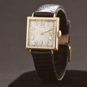 1926 IWC Schaffhausen Shreve 18K Gold Art Deco Gents Watch