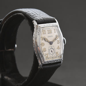 1927 GRUEN Guild Gents Nickel Art Deco Watch