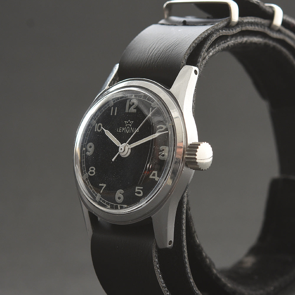 40s LEMANIA Gents WW2 Military Style Watch