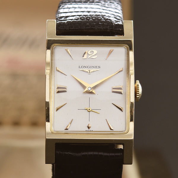 1957 LONGINES Gents 14K Gold Vintage Watch w/Box